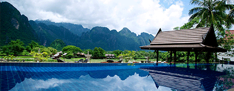 Experience the BEST Pool in all of Vang Vieng, at the Silver Naga